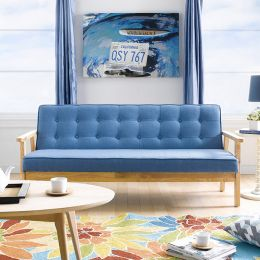 BLUE-1905-Fabric  3-Seater Sofa