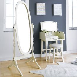 TP-602-White Oval Mirror