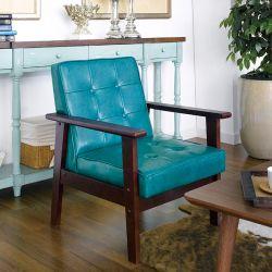 DT-1901-Blue-PU  Single Chair