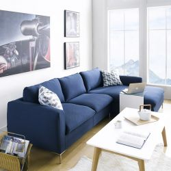 Talida-Blue  Sofa w/ Chaise