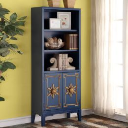 Blue-2-Door  Bookcase
