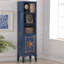 Blue-1-Door Pier  Bookcase