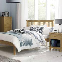 Atlanta-Oak  Queen Bed w/ Slats