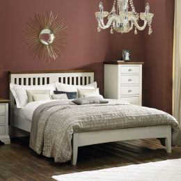 HAMPSTEAD-Two Tones Queen Bed w/ Slats