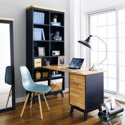 NB-Blue-HDB Desk w/ Bookcase