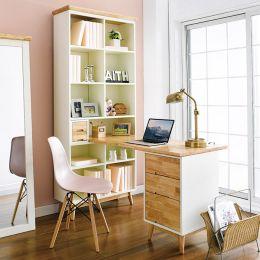 Vivid-HDB  Desk w/ Bookcase