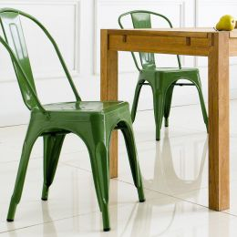 M-503-GREEN  Metal Chair