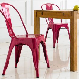 M-503-RED  Metal Chair