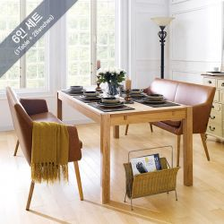 Cope-Nora-Brandy-6  Dining Table  (1 Table + 2 Benches)