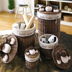 Sheep Family  Baskets (4 Pcs)