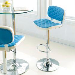 59791-Turquoise  Alpini Ajustable Bar Stool