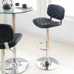 59792-Black  Alpini Ajustable Bar Stool