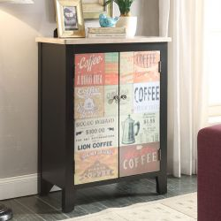Coffee Sign-2DR  Console Chest