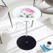 7032   Glass Round Table