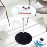 7035   Glass Round Table