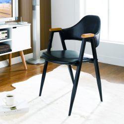Arch Back-Black  Metal Chair