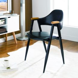 Arch Back-Black  Metal Chair