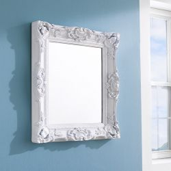 KT4050-Mat White  Wall Mirror