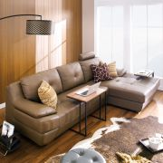 M8014  4-Seater Leather Sofa w/ Chaise