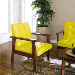 DT-1901-Yellow-PU  Single Chair