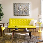 DT-1905-Yellow-PU  3-Seater Sofa