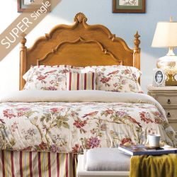 Lily-Brown-HB  Super Single Panel Bed