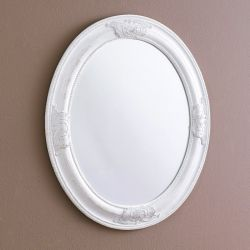 Livia-White  Oval Wall Mirror