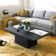 Monaco-Black  Marble Coffee Table
