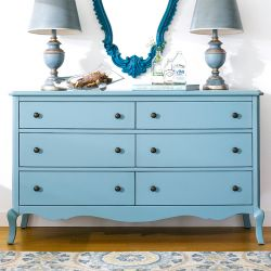 B2185-22-Blue  Drawer Dresser