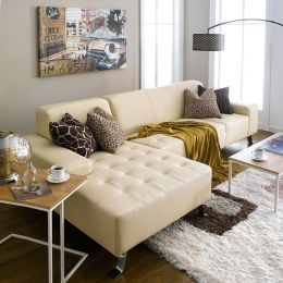 Indiana  4-Seater Leather Sofa w/ Chaise