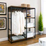 SACM-1000-Black  2-Unit Closet
