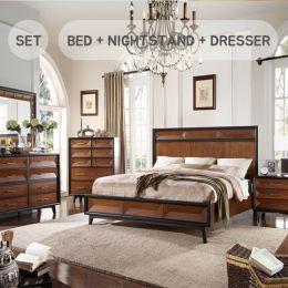 Cleo  King Panel Bed (침대+협탁+화장대+거울)