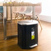 EK9366MP-20L-Black  Pedal Bin