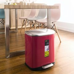 EK9366MP-20L-Red Pedal Bin