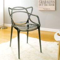 PC-601B-Clear Black  Chair