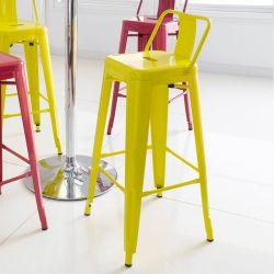 M-504D-Yellow  Metal Bar Chair