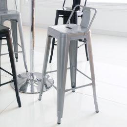 M-504D-Grey Metal Bar Chair