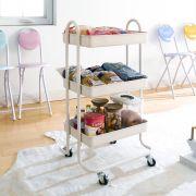 ST25346-C-Cream White  Storage Cart