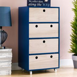 Ricky-Dark Blue  4-Drawer Chest