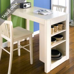 D390-2-Cream-IT  Island Table  (Table Only)