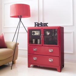 16-002-Red  Metal Cabinet