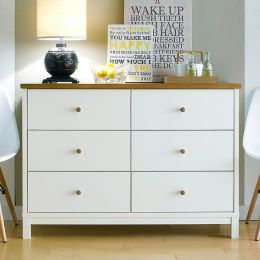 Atlanta-Two Tones 6-Drawer Dresser