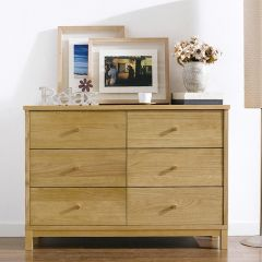 Atlanta-Oak 6-Drawer Dresser