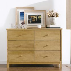 Atlanta-Oak 6-Drawer Dresser