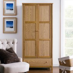 Atlanta-Oak  Double Wardrobe