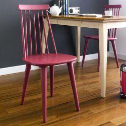 Julie-Red  Wooden Chair