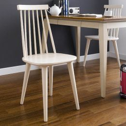 Julie-Ivory  Wooden Chair
