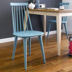 Julie-Blue  Wooden Chair