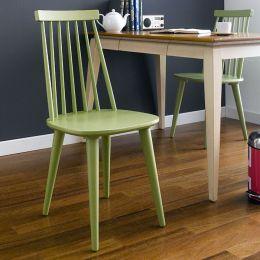 Julie-Green  Wooden Chair