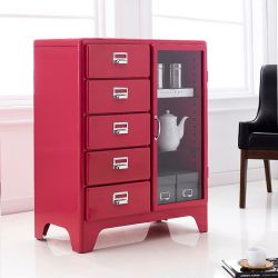 16-001-Red  Metal Cabinet